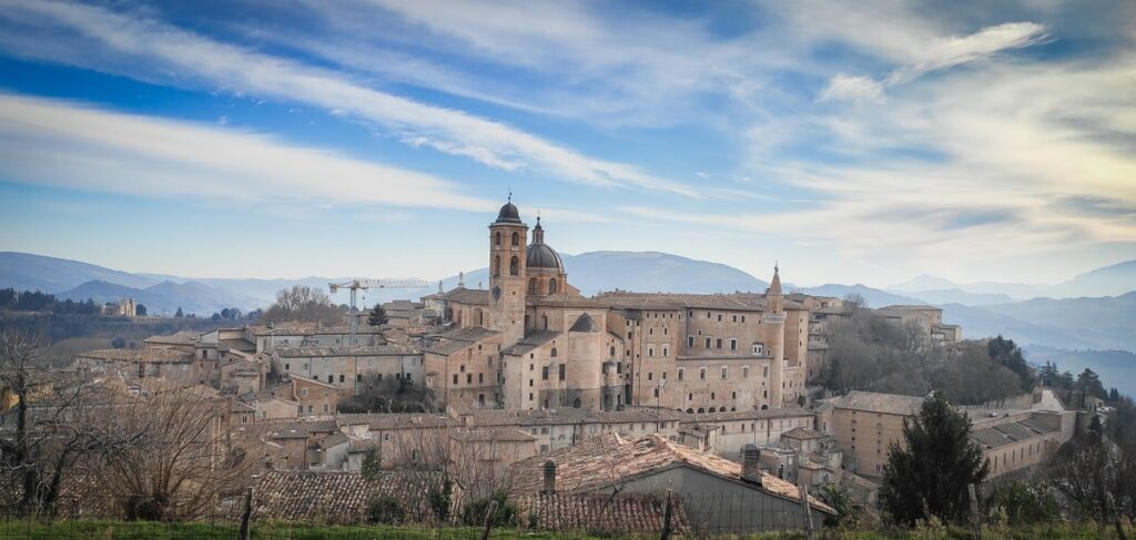 vista panoramica di Urbino