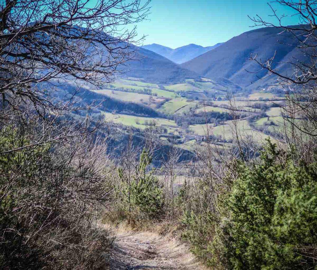 il magnifico panorama durante la prima parte del sentiero