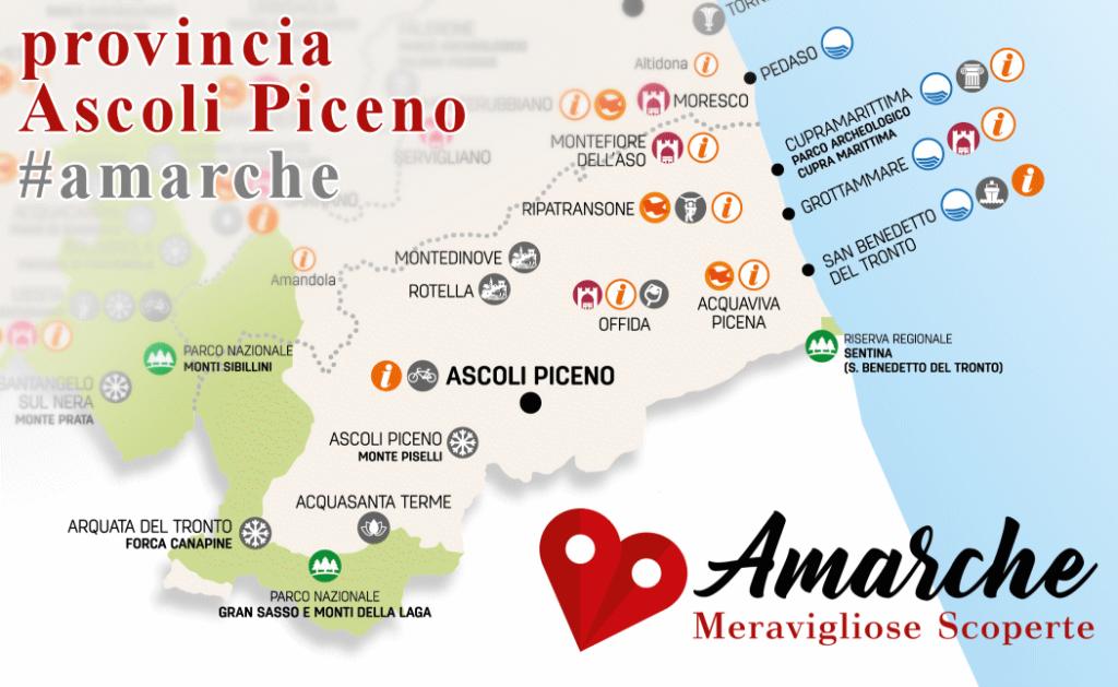 Mappa turistica provincia Ascoli Piceno