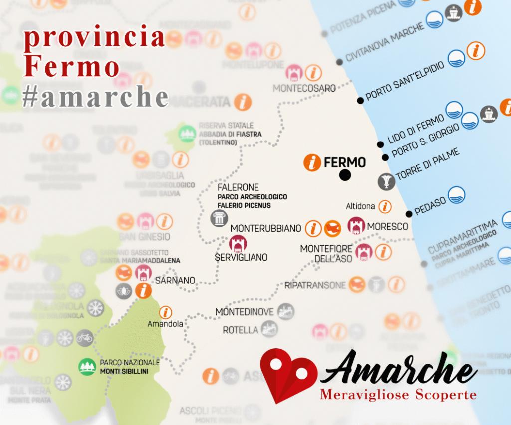 mappa turistica della provincia di Pesaro