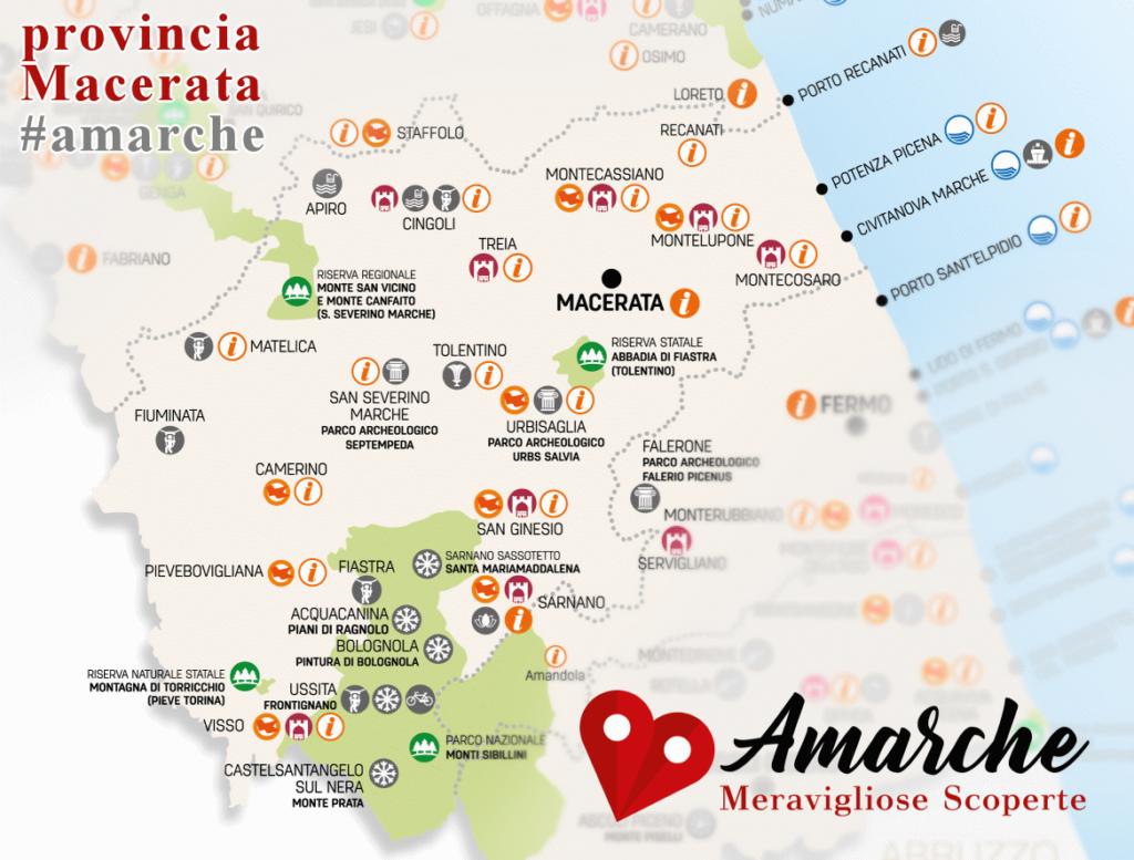 Mappa turistica provincia Macerata