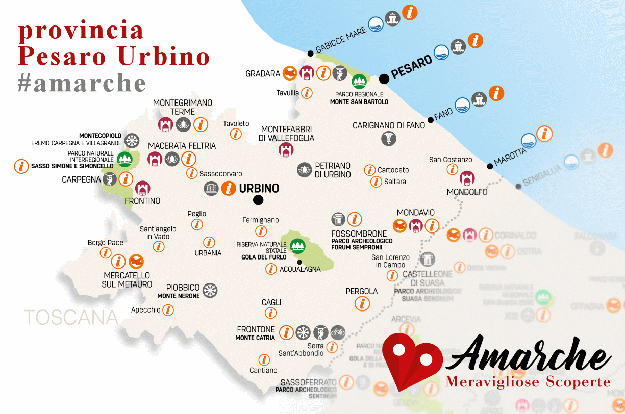 mappa provincia Pesaro Urbino