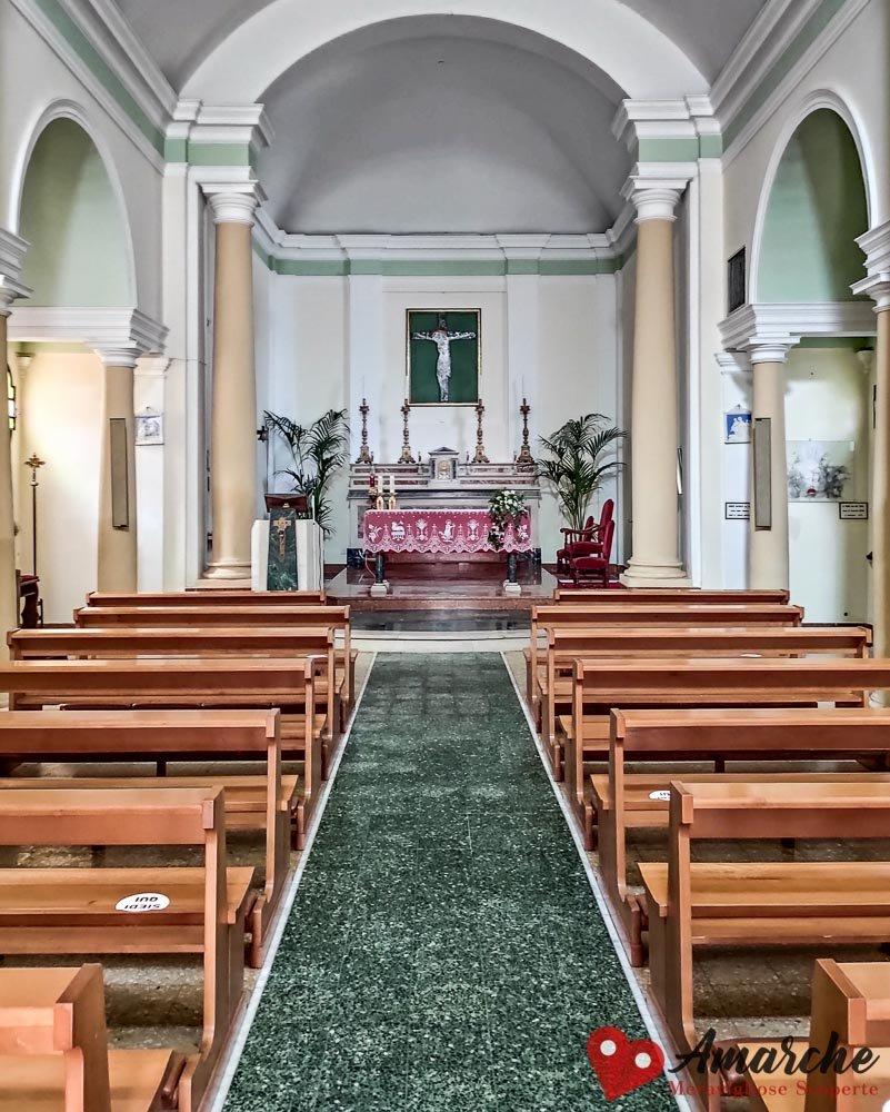 Chiesa di San Ermete Gabicce Monte interno