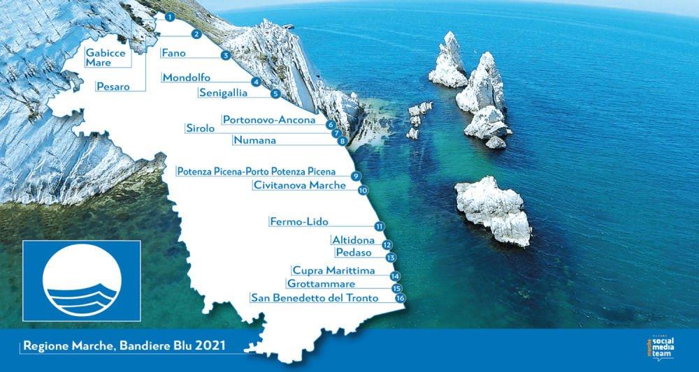 Litorale Marche Cartina.Le Piu Belle Spiagge Delle Marche Le Zone Di Mare Piu Spettacolari